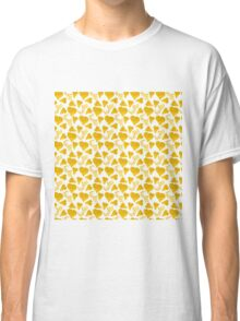seamless pattern with gold,hand-drawn hearts and the description hello Classic T-Shirt