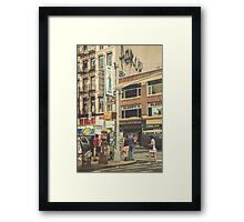 CANAL vs. BROADWAY Framed Print