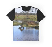 Pillars and river Graphic T-Shirt