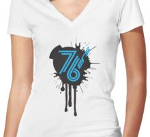 76'ers Women's Fitted V-Neck T-Shirt