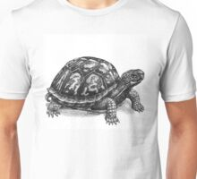 Pen and Ink Eastern Box Turtle, drawing Unisex T-Shirt