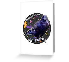 Barnaby the raven Greeting Card
