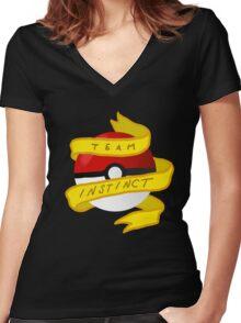 Instinct Pokeball Women's Fitted V-Neck T-Shirt