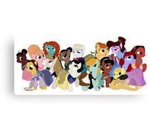 My Little Disney Princesses Canvas Print