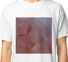 Indian Red Abstract Low Polygon Background Classic T-Shirt
