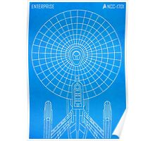 Star Trek - Faux Enterprise Blueprint Poster