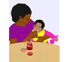 Mother Feeding Her Baby Photographic Print