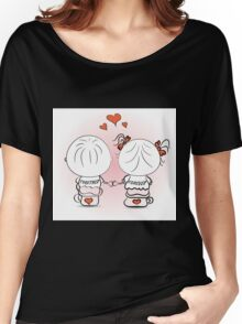 valentine's day illustration with boy and girl Women's Relaxed Fit T-Shirt