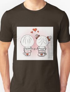 valentine's day illustration with boy and girl Unisex T-Shirt
