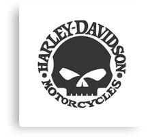 Harley Davidson Skull Canvas Print