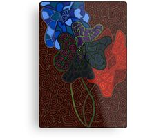 Abstract Blooms Metal Print