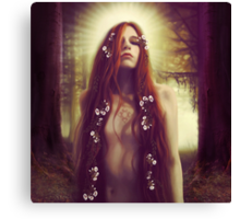 Iseult in the Sacred Forest Canvas Print