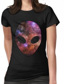 Space Alien Womens Fitted T-Shirt