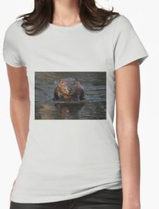 A beaver's floatation device Womens Fitted T-Shirt