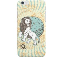 Leo zodiac sign.Vintage Horoscope iPhone Case/Skin