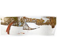 Snowed In, Wallace Hut, Falls Creek, Victoria, Australia Poster