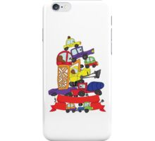 Child's hand draw cars. Funny Doodle composition iPhone Case/Skin