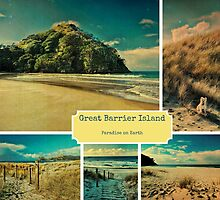 Great Barrier Island Collage by Karen Lewis