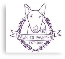 Paws To Pavement Dog Walking San Diego Purple Canvas Print