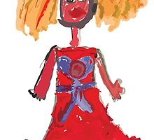 Doodle Princess.Children's hand drawing. by Tatiakost