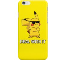 """Pikachu-""""DEAL WITH IT"""" iPhone Case/Skin"""