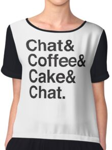 chat & Coffee & Cake & Chat Chiffon Top