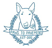 Paws To Pavement Dog Walking San Diego Blue Photographic Print