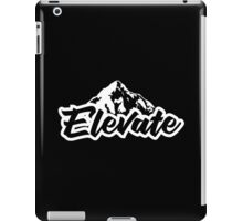 Elevate - mountains White iPad Case/Skin