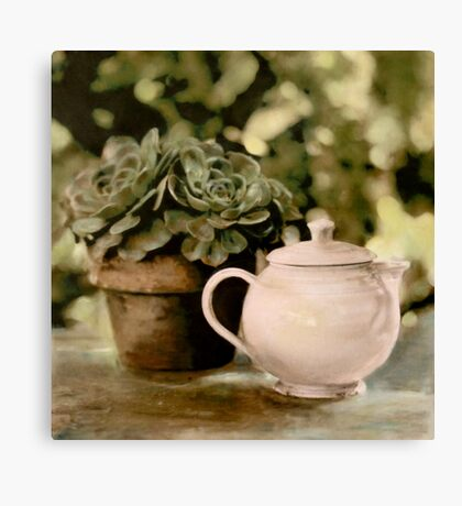 Pink Teapot Canvas Print