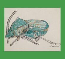 Rainbow Scarab Beetle in colour by Liz H Lovell One Piece - Short Sleeve