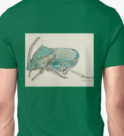 Rainbow Scarab Beetle in colour by Liz H Lovell Unisex T-Shirt
