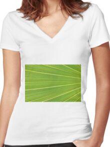 Leaf Veins Women's Fitted V-Neck T-Shirt