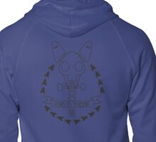 Paws Halloween Dog Bones Skull & Ghost Ears Zipped Hoodie