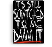 Scratched Logo Forever Canvas Print