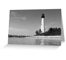 Cape Florida Lighthouse - B&W Film Greeting Card