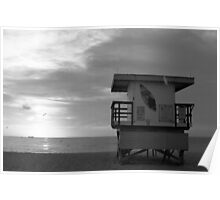 Life Guard Stand - B&W Film Poster