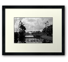 Lift Bridge over the Miami Canal Framed Print