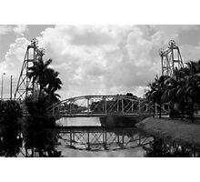 Lift Bridge over the Miami Canal Photographic Print