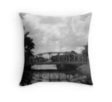 Lift Bridge over the Miami Canal Throw Pillow