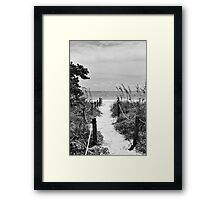 Pathway to the Sea Framed Print