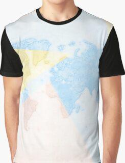 World Map Light Graphic T-Shirt