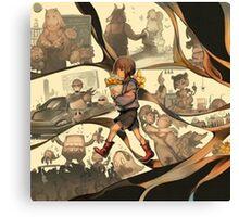 Art of Undertale Videogame Canvas Print
