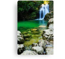 Sum Waterfall in Vintgar Gorge, near Bled, Slovenia. Canvas Print