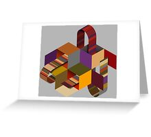 Tom Bakers Scarf - Doctor Who Greeting Card