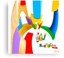 BENDER BLOCKS Canvas Print