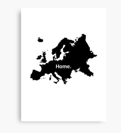 Europe Home Canvas Print