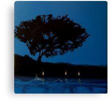 Twilight Swimmer Canvas Print