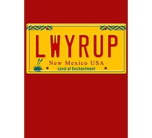 License Plate - LWYRUP Photographic Print