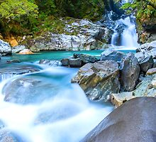 Waterfall in Fiordland National Park by Adrian Alford Photography