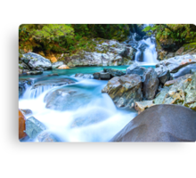 Waterfall in Fiordland National Park Canvas Print